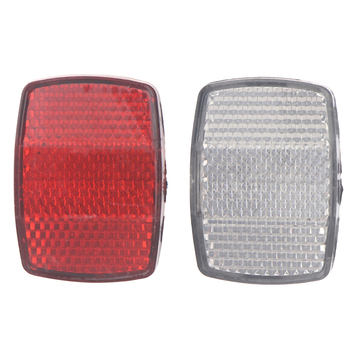 Bicycle Plastic Reflector Tail Light Front And Rear Warning Bike Accessories