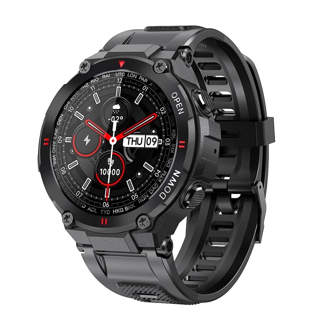 2021 חדש K22 חכם שעון גברים ספורט כושר Bluetooth שיחת מוסיקה משולבת בקרת שעון מעורר תזכורת Smartwatch עבור טלפון