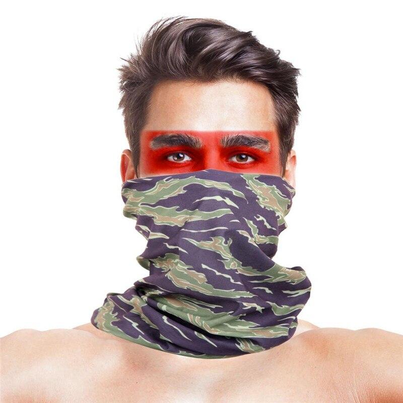 Армейская цифровая рыболовная Бандана с изображением масок для лица из полиэстера ветрозащитная Зимняя Маска для головы и шеи для лица одежда для рыбалки - Цвет: 021