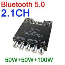 2.1CH Bluetooth 5.0 TPA3116 Loa Siêu Trầm Âm Thanh Nghe Bộ Khuếch Đại Công Suất Ban 50W + Tặng 50W + 100W Treble bass Âm AUX Cho 12V 24V