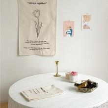 Cutelife скандинавский Ins тканевый цветок настенный подвесной гобелен ткань ручной работы макраме настенный гобелен салфетка украшение для сп...