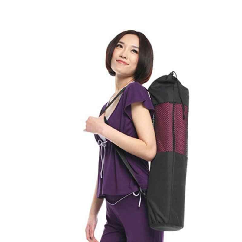 1 sztuk wysokiej jakości siatka nylonowa centrum torba na matę do jogi regulowany pasek Pilates Carrier Fitness kulturystyki sprzęt sportowy