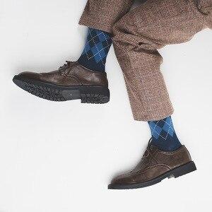 Носки «успешный человек», «успех в погоне», носки в британском стиле для девочек, клетчатые мужские носки, новые носки без косточек с ромбов...
