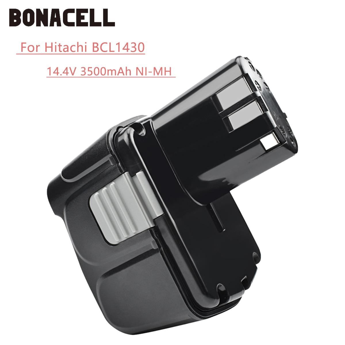 Bonacell 14.4V 3500mAh For Hitachi BCL1430 Battery For Hitachi CJ14DL DH14DL EBL1430 BCL1430 BCL1415 Li-ion Battery L30