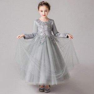Image 5 - GirlsCampus mezuniyet dans partisi uzun elbise çiçek kız düğün Bridesmaids Eucharist parti boyu nedime elbisesi