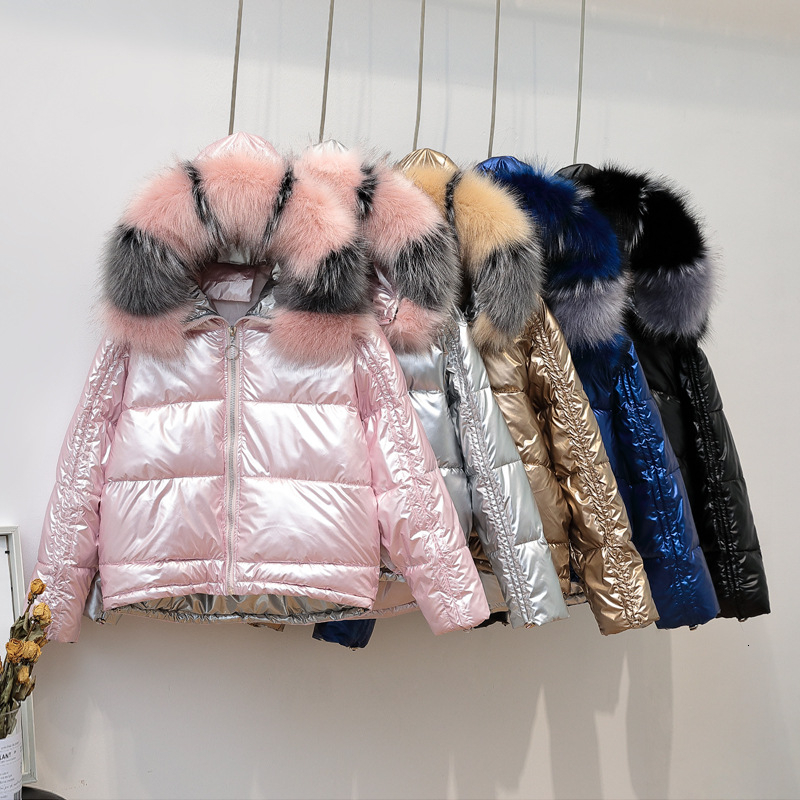 Women New Parka Warm Winter Coat Jacket Fur Hooded Ladies Quilted  Puffer Fashio