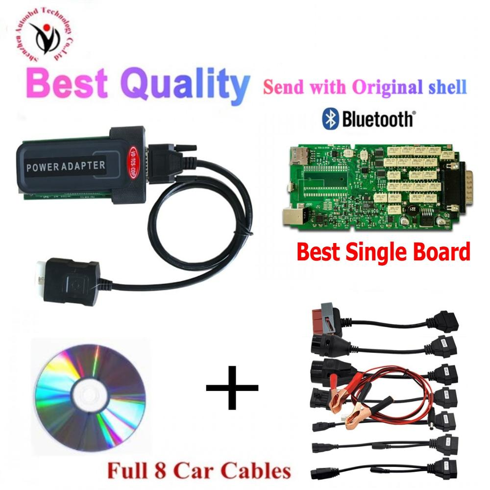 Neue VD TCS CDP PRO Plus 2016,00 keygen mit Bluetooth Single Board vd ds150e cdp für Delphis autos & lkw OBD2 Diagnose Werkzeug