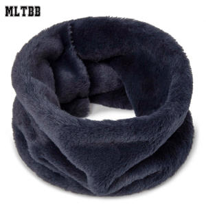 Winter Scarf Button Wool Plush Warm Thick Soft Fashion Women New-Arrival for Neck Female
