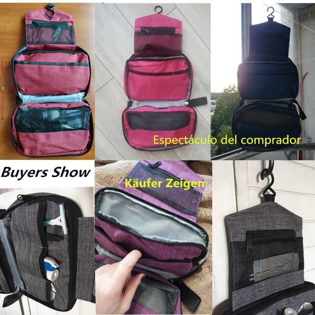 Men Women Hanging Cosmetic Bag Multifunction Travel Organizer Toiletry Wash Make up Storage Pouch Beautician Folding Makeup Bag 4
