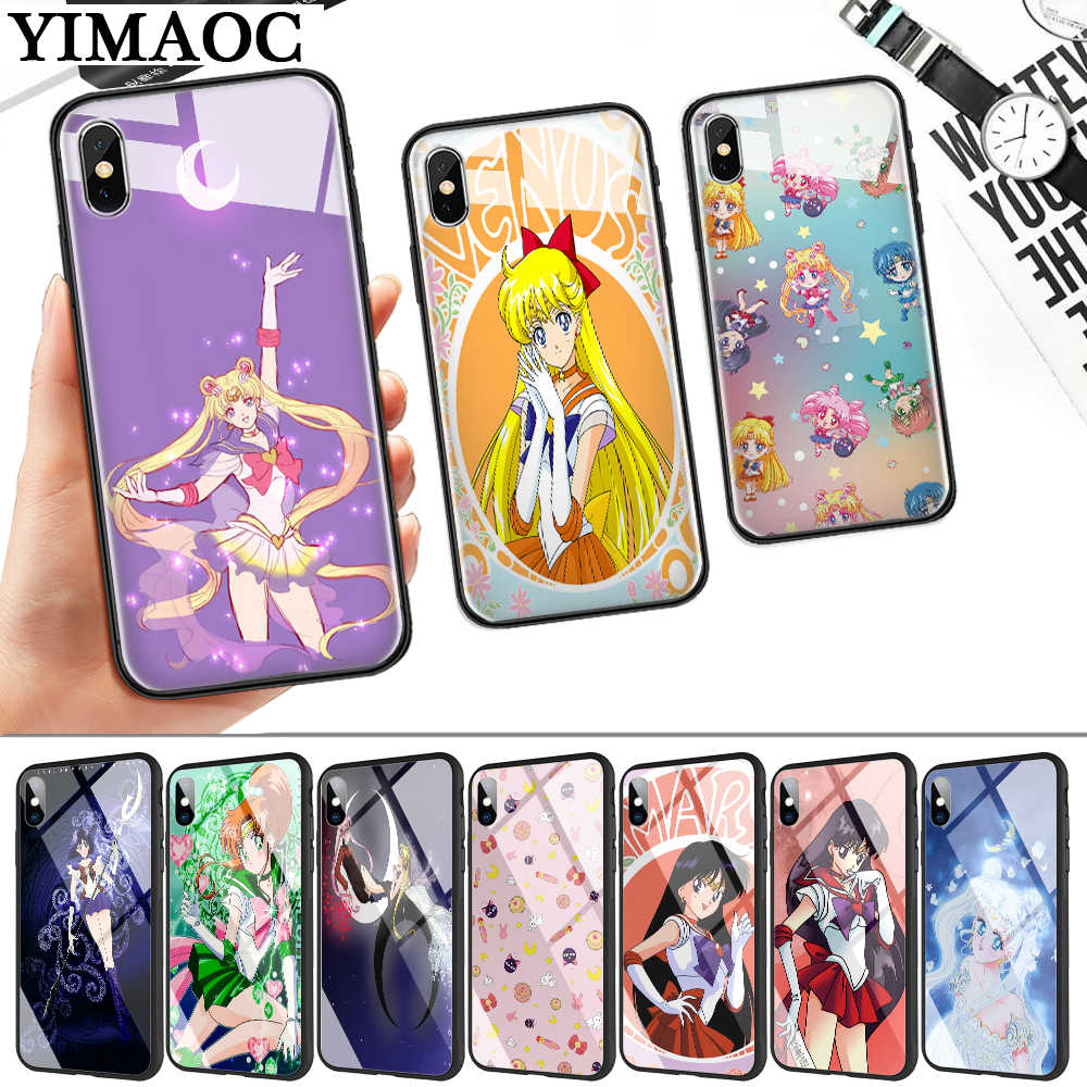 Sailor Moon Wallpaper Glas Telefon Fall Fur Apple Iphone 11 Pro Xr X Xs Max 6 6s 7 8 Plus 5 5s Se Angepasste Hullen Aliexpress