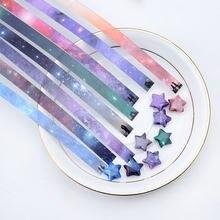 540 pçs tiras de papel doces mix-cor única face dobrável estrela pressão alívio origami melhores desejos diy scrapbooking decorações