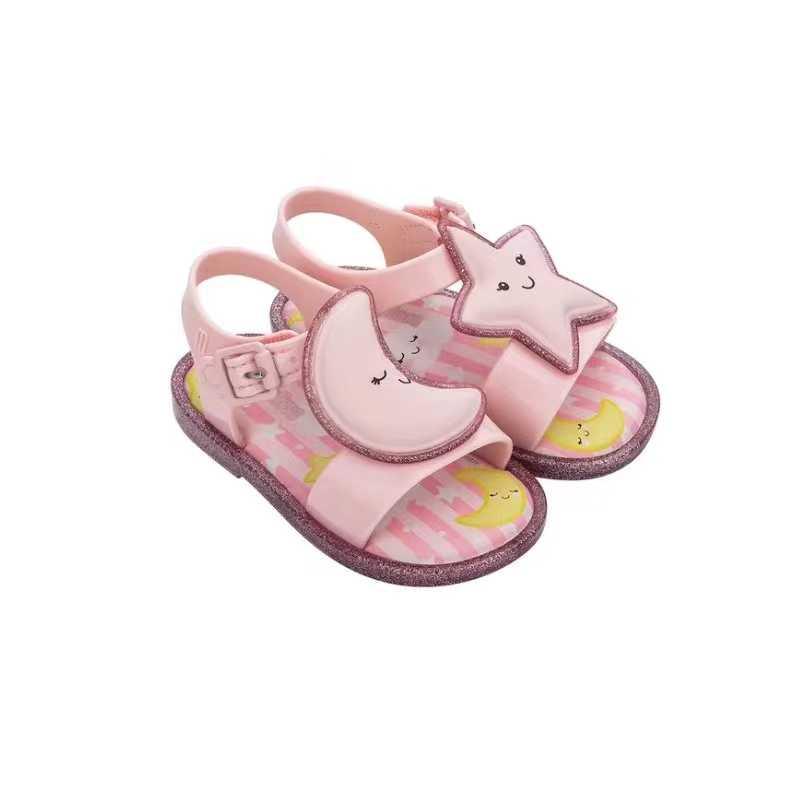 MINI MELISSA Sweet Princess รองเท้าแตะสาว 2020 ใหม่วุ้นรองเท้ารองเท้าแตะเด็กรองเท้าแตะเด็กชายหาดรองเท้าลื่นรองเท้า