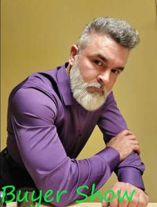 Image 2 - Paars Mannen Bamboevezel Jurk Shirt 2018 Gloednieuwe Slim Fit Lange Mouwen Chemise Homme Niet Ijzer Easy Care formele Shirt Voor Mannen