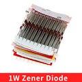 1 Вт Диод Зенера в ассортименте (3 В 3,3 В 3,6 В 5,1 В 5,6 В 7,5 в 10 в 12 В 13 в 15 в 16 в 18 в 20 в 22 в 24 в 30 в 33V 39V) набор ассортимента