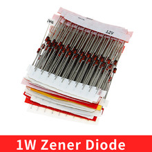 1W Zener Diode Assorted Kit (3V 3.3V 3.6V 5.1V 5.6V 7.5V 10V 12V 13V 15V 16V 18V 20V 22V 24V 30V 33V 39V) Assortment Set