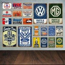 Plaques décoratives Vintage en métal, vente de pièces de Service de voiture à moteur classique, affiches en étain, autocollants muraux, Pub, Bar, Garage, décor YA042