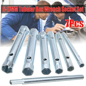 6-17 мм трубчатый ящик гаечный ключ набор с двойным концом свечи зажигания рукав гаечный ключ инструмент для удаления