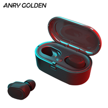 ANRY True Wireless Earbuds Bluetooh 5.0 in-Ear 3D Stereo TWS Earphones Auto-Pair Headsets with High Definition Mic