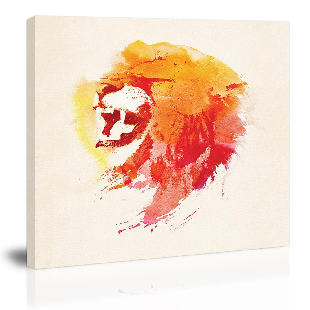 Abstract Bear with Mountain Wall Art Decor Canvas Painting Kitchen Prints Pictures for Home Living Dining Room