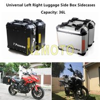 Motorcycle 36L Luggage Box Sidecases Storage Case Cargo Side Bag For BMW R1200 GS Adventure F800GS Kawasaki Versys 650 Universal