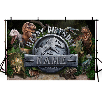 Jurassic Park World Dinosaur Theme Backdrop Photographic Studio Photo Background Baby Birthday Party Decorations Prop