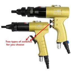 Пневматический пистолет для гайки с заклепками M3M4M5M6M8M10M12 инструмент для пневматической гайки самоблокирующийся пистолет головка ветряная ...