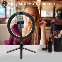 Кольцевой светильник 10,2 дюйма с подставкой, светодиодный осветитель для селфи-камеры, кольцо для тренога для iphone и телефона, держатель для в... 3