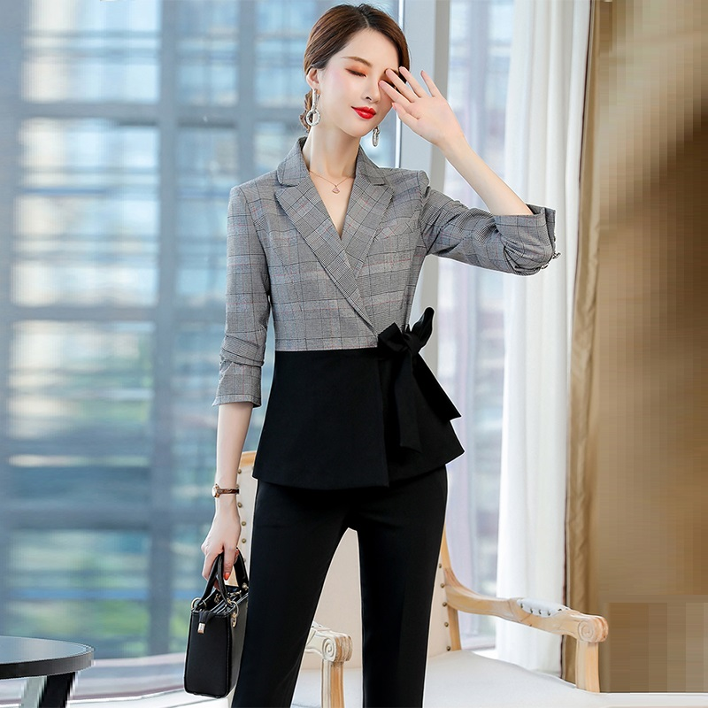 New Design Coming!Spring Autumn Office Lady Suit Set,Women Suit,High Quality Korean Style Pantsuit Women,Hot Sell.
