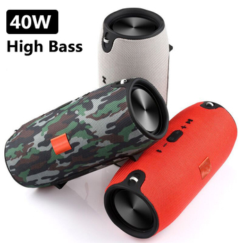 40W High Power Portable Bluetooth Speaker Subwoofer TWS Outdoor Column Waterproof Super Bass Music Center TF AUX FM caixa de som