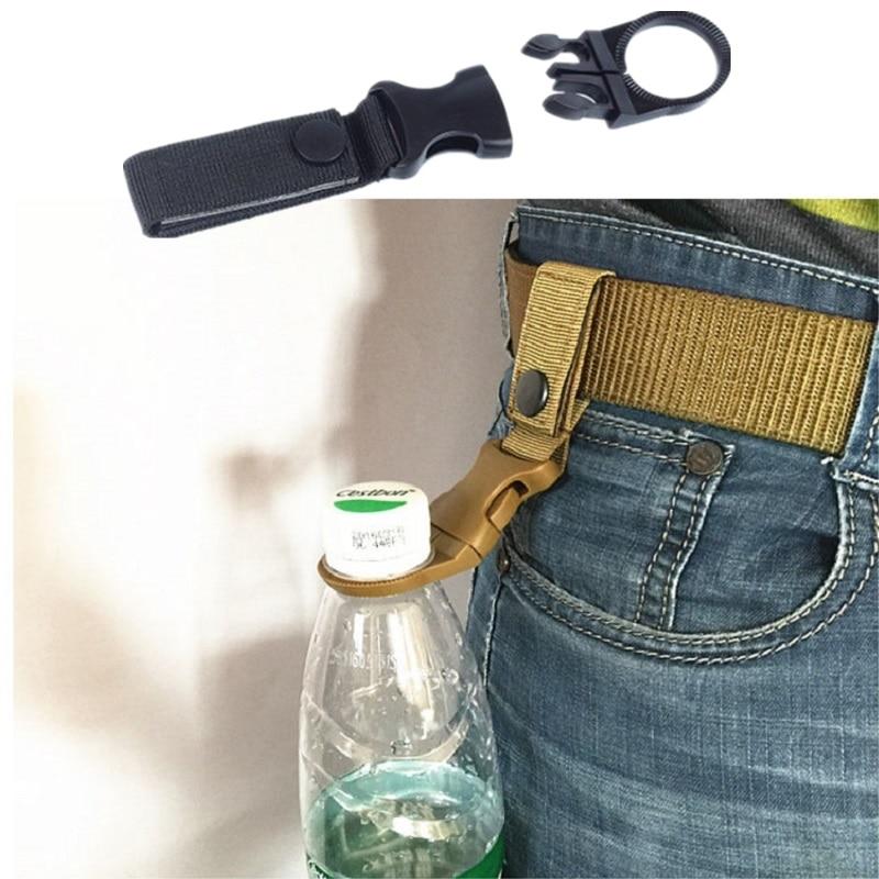 Nylon Belt Hang Buckle Outdoor Water Bottle Carabiner Belt Backpack Keychain Hook Lock Waist Belt Climbing Hunting Accessories