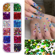 1 шт разноцветные Блестки для ногтей 12 цветов
