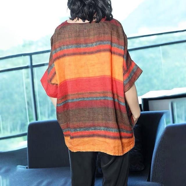 casual elegance, striped top drop sleeve  6