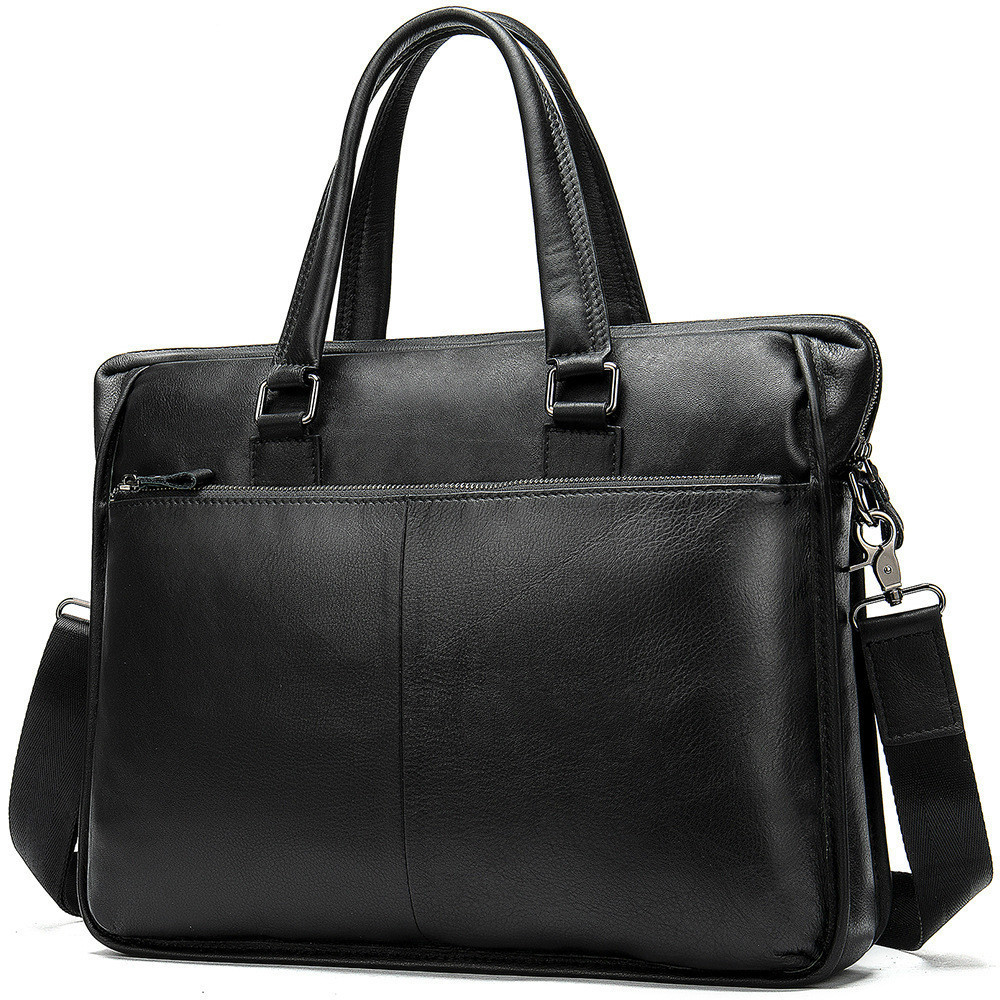 Genuine Leather Laptop Male Package Men's Handbag Business Affairs Single Shoulder Business Travel 14 Inch Briefcase Computer