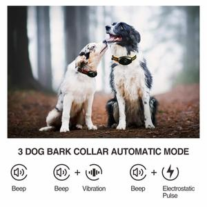Image 4 - 2 in 1 Dog Training Collar & Anti Bark Collar 400M Rechargeable Dog Electric Collar Waterproof Remote Dog Pet Product