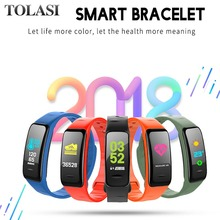 Get more info on the 2019 New C1 Plus Smart Bracelet Fitness Tracker Smart Band Color LCD Wristband Heart Rate Tracker 4.1 Bluetooth Watch For Phone