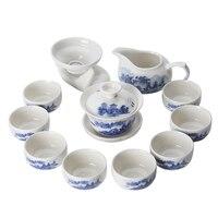 Jingdezhen China antike Kung Fu tee set teekanne keramik abdeckung schüssel tasse porzellan hause dekoration zeremonie gaiwan wasserkocher teetasse-in Teegeschirr-Sets aus Heim und Garten bei