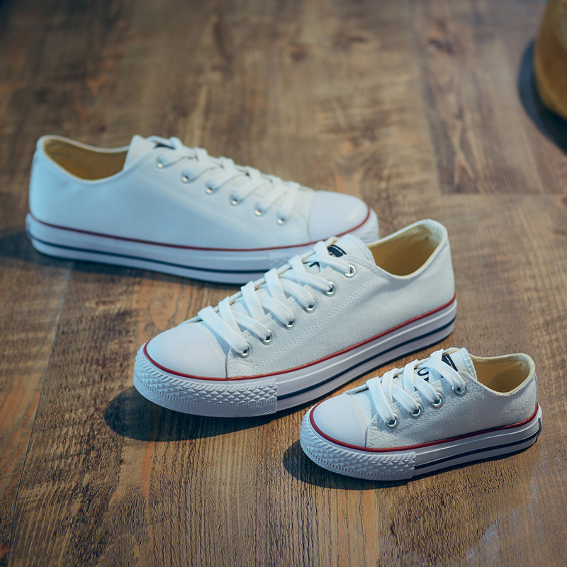 Mother And Daughter Shoes Kids Canvas Sneakers Candy Color Parent-child Shoes Casual Classical Canvas Shoes For Spring Autumn