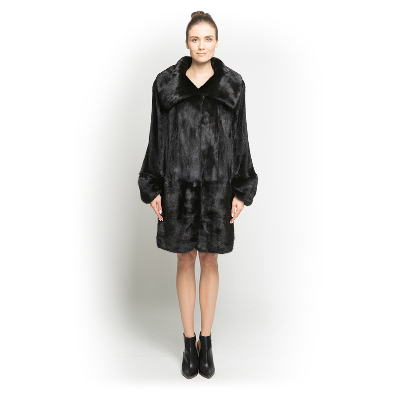 QD7088 2019 Новое дизайнерское женское меховое пальто с большим квадратным воротником, натуральное меховое пальто для женщин, хит продаж, мехово...