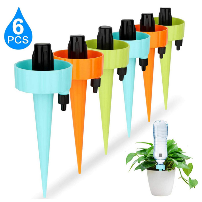 6Pcs Automatic Watering Device With Switch Control Valve Adjustable Water Flow Dropper Equipment Garden Supplies Irrigation Tool