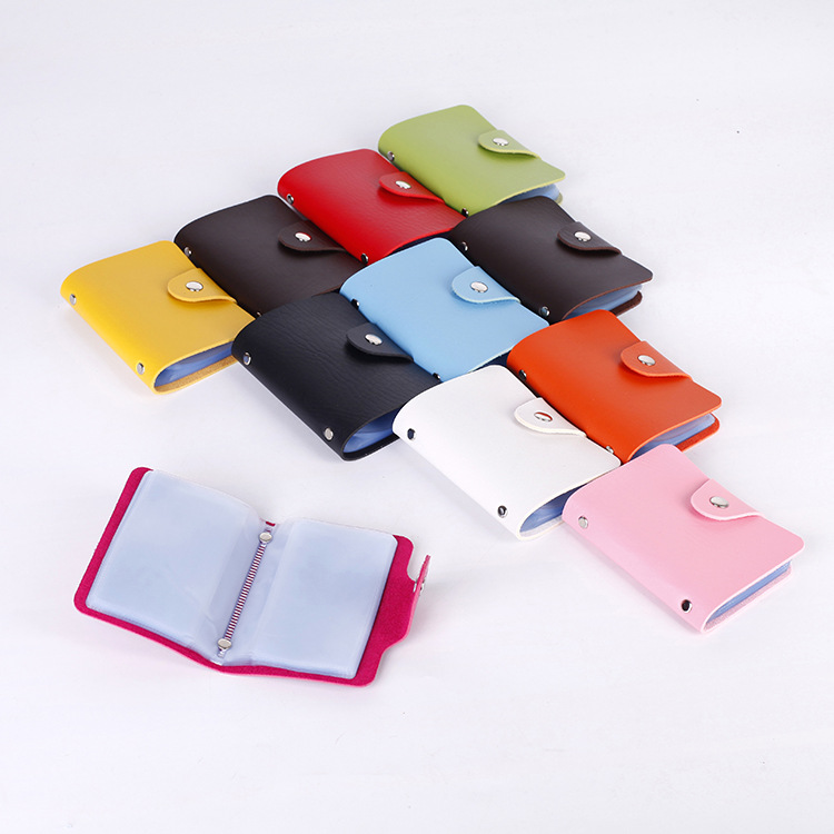 24 Bits Credit Card Holder Men Women For Cover On Case Female Male Bag Purse Pocket Porte Carte Cardholder
