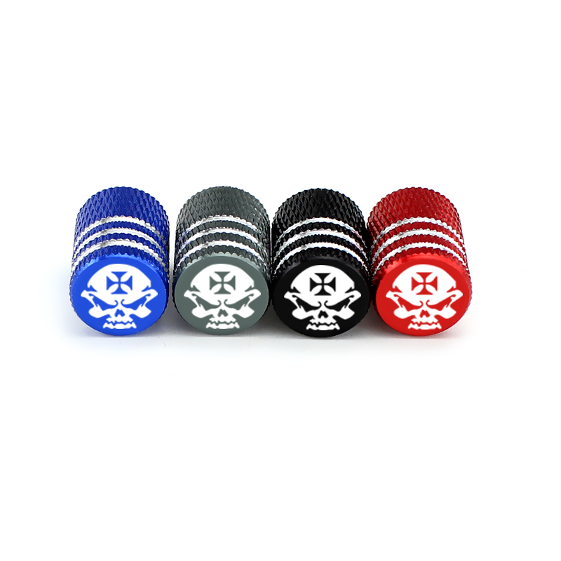 Dustproof Metal For Skull Logo Car Wheel Tires Valves Tyre Stem Air Caps Airtight Cove 4pcs For BMW E46 E90 E60 E39 F30 Audi A3