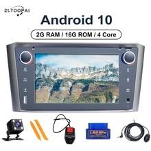 ZLTOOPAI Android 10.0 Tự Động Phát Thanh Cho Xe Toyota Avensis T25 2002 2008 Máy Nghe Nhạc Đa Phương Tiện Dẫn Đường GPS 4 Nhân 2GB + Tặng Kèm Dàn Âm Thanh Xe Hơi