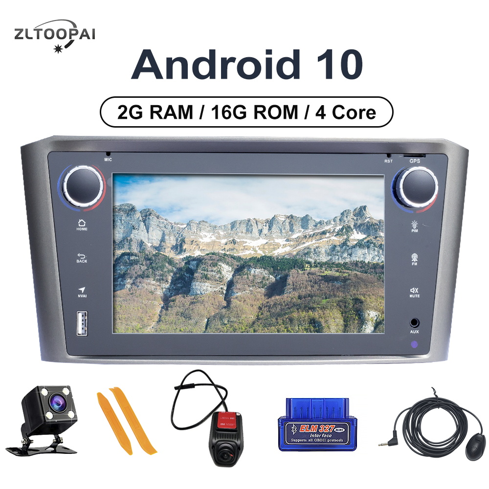ZLTOOPAI <font><b>Android</b></font> 10.0 Auto Radio For <font><b>Toyota</b></font> Avensis <font><b>T25</b></font> 2002-2008 Car Multimedia Player GPS Navigation 4Core 2GB+16GB Car Stereo image