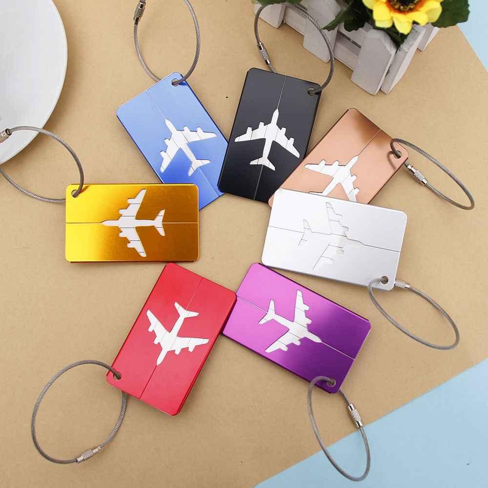 חדש אופנה אלומיניום נסיעות תג מטען מטען מזוודה זהות כתובת שם תוויות