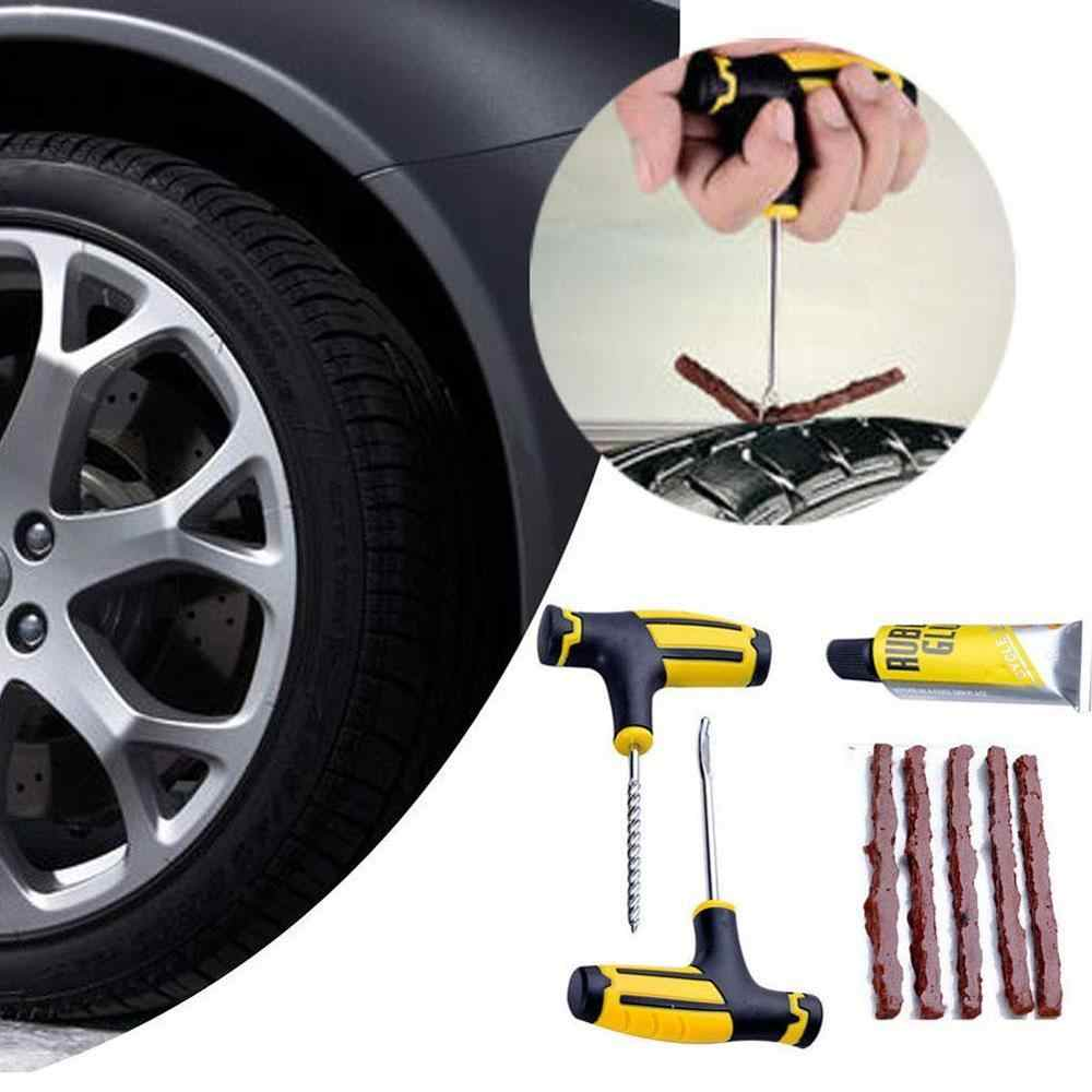 Car Tire Repair Tool Tire Repair Kit Studding Tool Set Auto Bike Tubeless Tire Tyre Puncture Plug Garage Car Accessories