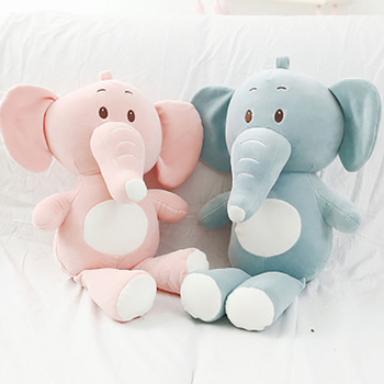 Stuffed Animal Soft Toy Cute Plush Elephant Baby Boys Girls Toys Sleeping Pillow Birthday Gifts For Kids Children hamtoys 60cm cotton cushion plush hippo stuffed toys boy girl hippopotami sleeping pillow large soft toy for children kids sa21