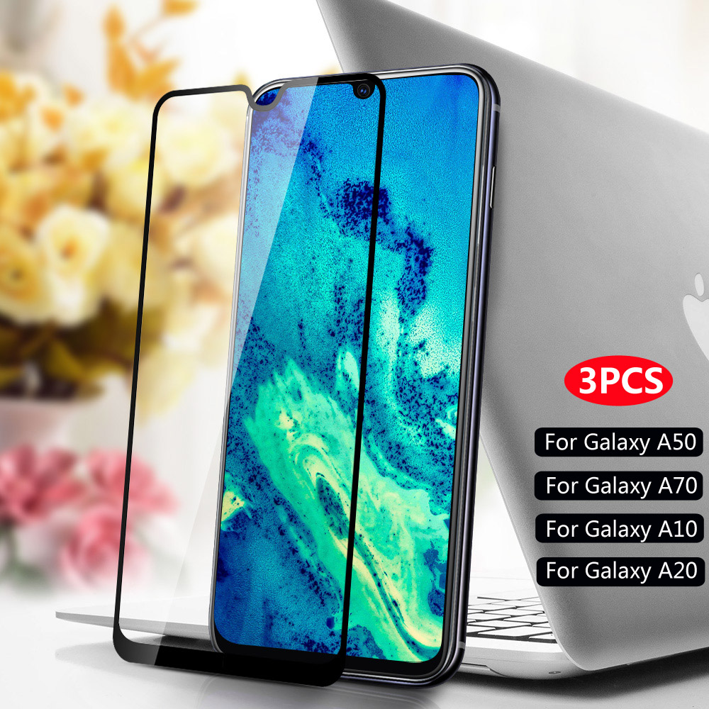 3PCS Protective Glass Film For Samsung Galaxy A10 A20 A30 A40 A50 A60 A70 A80 A90 Tempered Glass For Samsung A10S A30S M10 Glass