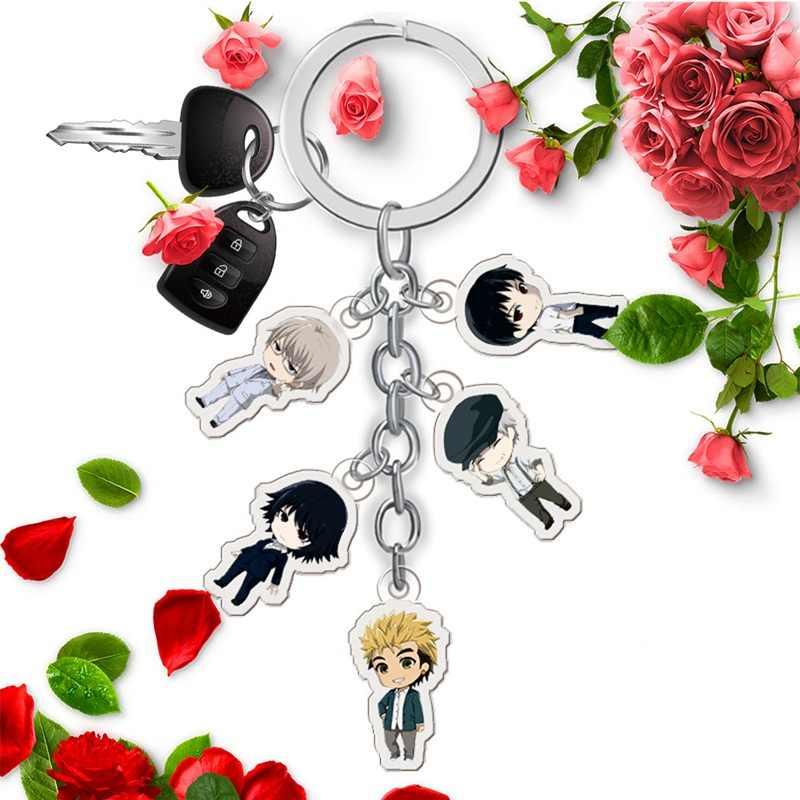อะนิเมะรูป Demi-มนุษย์พวงกุญแจการ์ตูนรูปอะคริลิคจี้ Key RING
