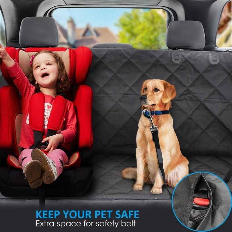 Housse de siège de voiture pour chien imperméable à l'eau pour chien tapis de voyage maille chien transporteur voiture hamac coussin protecteur avec fermeture à glissière et poche