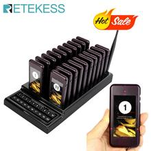 купить TIVDIO T-111 Restaurant Pagers 20 Call Wireless Calling Paging Queuing System Guest Call Button Waiter Catering Equipment F9401 по цене 12948.08 рублей